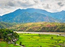 Philippines mountains rice fields Stock Photo