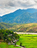 Philippines mountains rice fields Stock Photo