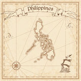 Philippines old treasure map. Stock Photography