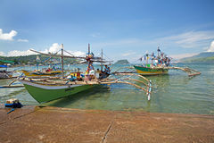 Philippines outriggers Royalty Free Stock Image