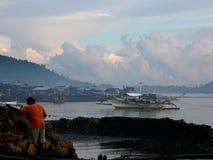 Philippines, Palawan, port de Quezon image stock