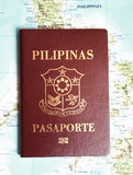 Philippines passport Stock Images