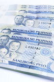 Philippines peso. A stack of one thousands peso of Philippines banknote, money Stock Photos