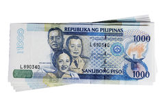 Philippines peso. A stack of philippines peso, in one thousand denomination Royalty Free Stock Photos