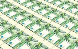 Philippines peso bills stacks background. Royalty Free Stock Photos