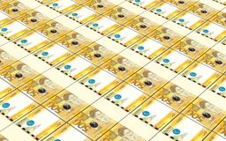 Philippines peso bills stacks background. Royalty Free Stock Images
