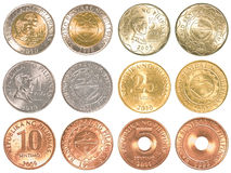 Philippines peso coins collection set. Isolated on white background Stock Images