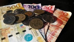 Philippines Coins and Paper Money Royalty Free Stock Images