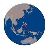 Philippines on political globe Stock Image