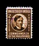 Philippines postage stamp shows portrait of Jose Rizal, Commonwealth of the Philippines serie, circa 1946 Royalty Free Stock Image