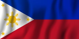 Philippines realistic waving flag vector illustration. National country background symbol. Independence day.  stock illustration
