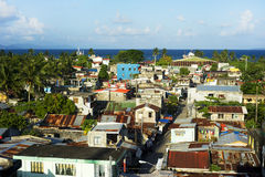 Philippines slums. Aerial view on slum in Legaspi city, Philippines Royalty Free Stock Image