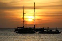 philippines solnedgång Royaltyfria Bilder