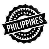 Philippines stamp rubber grunge Stock Images