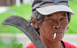 Philippines Sugar Cane Worker Stock Images
