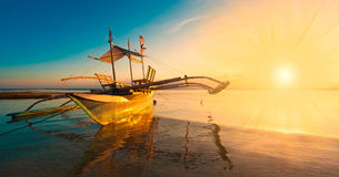 Philippines,  sunset boat Stock Images