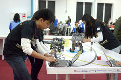 Philippines team at the robot Olympiad in Sochi Royalty Free Stock Image