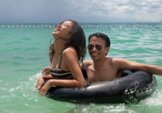 Philippines - Young Couple Swimming Stock Photography