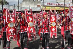 Philippines tribal warriors parade Stock Photos