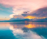 Philippines,  tropical sea background sunset Stock Image