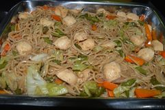 Pancit Canton or Stir fried noodles stock photography