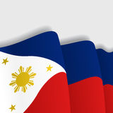 Philippines waving Flag. Vector illustration. Stock Images