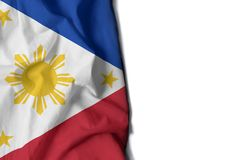 philippines wrinkled flag, space for text Royalty Free Stock Photos