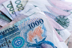 Philippinische Banknoten lizenzfreies stockbild