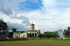 Philippinische Dorfkirche. Stockfotografie