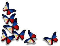 Philippinische Flaggenbasisrecheneinheiten, getrennt auf Weiß Lizenzfreie Stockfotografie