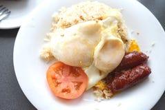 Philippinische Frühstücks-Platte Longsilong stockbild