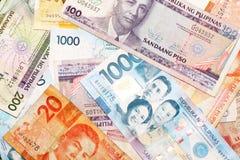 Philippinische Peso-Banknoten Lizenzfreies Stockfoto