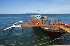 Philippinischer Arbeitskahn lizenzfreies stockfoto