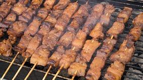 Philippinischer Schweinefleisch-Grill Lizenzfreies Stockbild