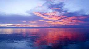 Philippinischer Strandsonnenuntergang Lizenzfreie Stockfotos