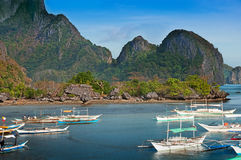 Philippino boats Stock Images
