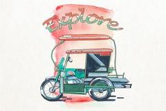 Philippino trehjuling Arkivfoton
