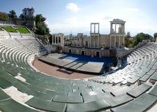 Philippopolis古色古香的罗马剧院在普罗夫迪夫,保加利亚 库存照片