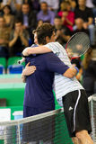 Philippoussis (l.) and Safin after match Royalty Free Stock Photos