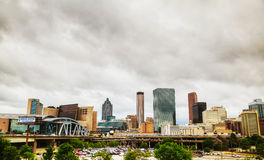 Philips Arena and CNN Center in Atlanta Stock Images