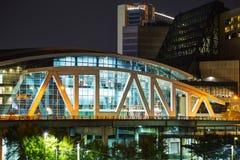Philips Arena e centro do CNN em Atlanta, GA imagem de stock royalty free