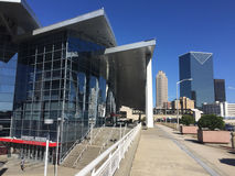 Philips Arena. Home of the Altanta Hawks, located in downtown Atlanta Stock Photos