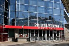 Philips Arena. Home of the Atlanta Hawks Stock Photo