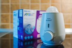 Philips Avent-het verwarmingstoestel van de babymelk Royalty-vrije Stock Afbeelding
