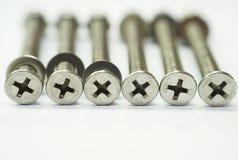 philips för låsmutter för bulthuvud rostfritt stål Fotografering för Bildbyråer