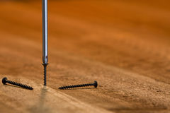 Philips head screwdriver in use Stock Photo