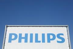 Philips-Logo auf einer Platte Stockfotografie