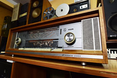 Philips Saturn 851 Stereo. Type B8D51A - The legendary vacuum tube stereo radio, West Germany 1966-1967 Stock Photo