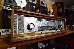 Philips Saturn 851 Stereo. Type B8D51A - The legendary vacuum tube stereo radio, West Germany 1966-1967 stock photos
