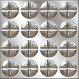 Philips Screw Heads Pattern Royalty Free Stock Images